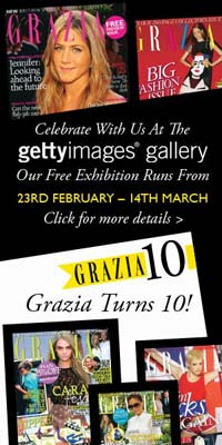 Banner ad for Grazia exibition