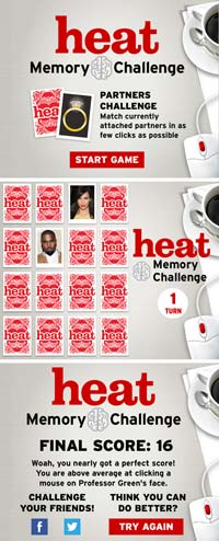 Heat memory game | One of a series running weekly