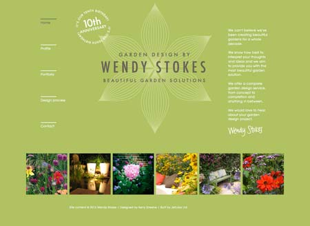 Wendy Stokes garden designer website