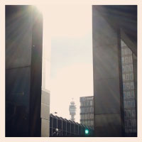 BT Tower from Euston station