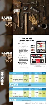 Bauer native advertising brochure