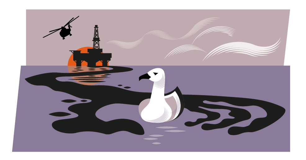 Oil spill illustration